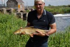 """large Keith"" with a Grest Weir barbel"